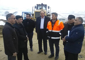 تابلوی روزشمار افتتاح پروژه احداث بزرگراه ارومیه به نازلو و سرو راهاندازی شد