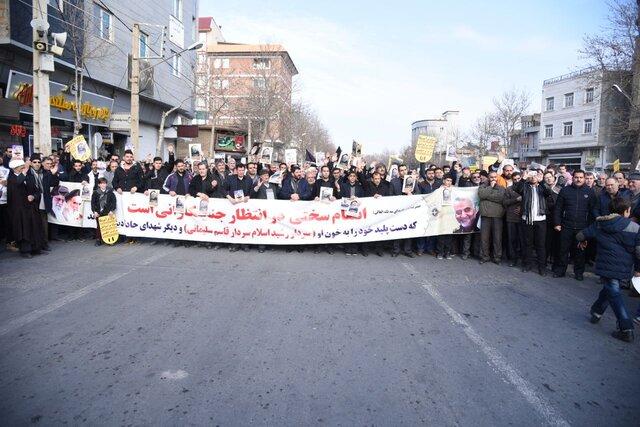 راهپیمایی مردم آذربایجانغربی در پی شهادت سردار سپهبد سلیمانی