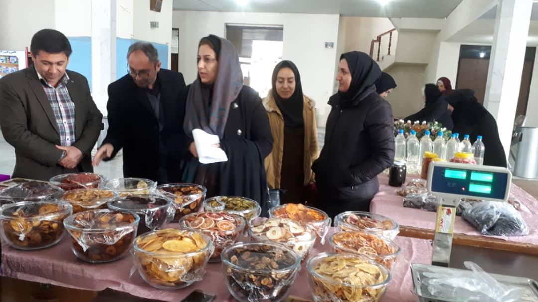 برپایی نمایشگاه عرضه محصولات و صنایع بانوان روستایی در جهاد کشاورزی آذربایجان غربی+ تصویر