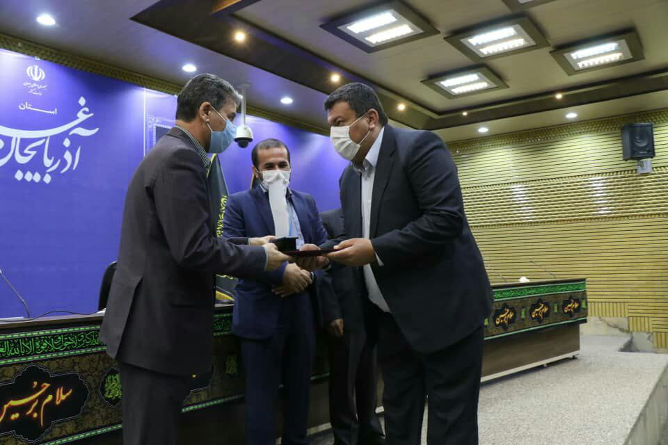 کسب رتبه اول گروه زیربنایی و توسعه زیر ساخت جشنواره شهید رجایی توسط شرکت توزیع نیروی برق استان